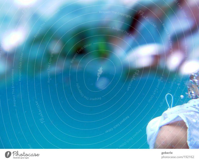 Meerbunt blau Sommer weiß Sonne rot Bewegung Schwimmen & Baden frisch Fröhlichkeit nass violett Sommerurlaub Knie Unterwasseraufnahme Mensch