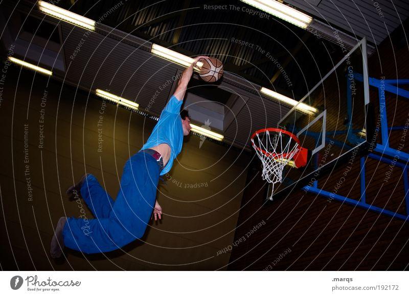 Slam Jugendliche Freude Erwachsene Leben Sport Spielen springen Stil Freizeit & Hobby fliegen hoch maskulin Erfolg außergewöhnlich Lifestyle Coolness