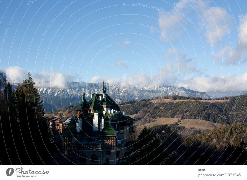 Plätzchen mit Aussicht Ferien & Urlaub & Reisen Tourismus Ausflug Ferne Sightseeing Sonne Winter Berge u. Gebirge wandern Herbst Landschaft Himmel
