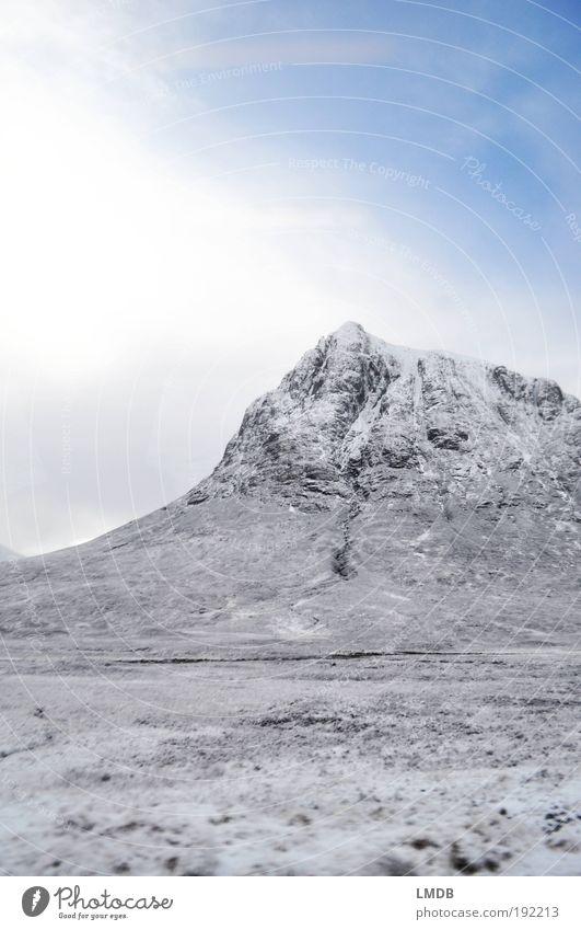 Winter in den Highlands Umwelt Natur Landschaft Erde Himmel Wolken Sonne Klima Wetter Schönes Wetter Eis Frost Schnee Felsen Berge u. Gebirge Gipfel