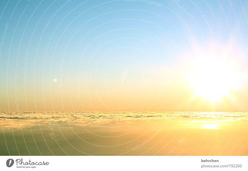 hoffnung Himmel Natur Ferien & Urlaub & Reisen schön ruhig Wolken Sonnenaufgang Ferne Freiheit träumen Zufriedenheit Kraft Insel fantastisch Ausflug Schönes Wetter