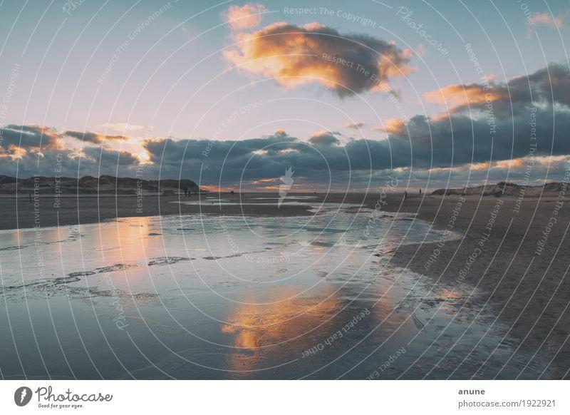 Eisiges Nordseegewölk Erholung ruhig Ferien & Urlaub & Reisen Tourismus Ferne Freiheit Meer Umwelt Natur Landschaft Urelemente Sand Wasser Himmel Wolken