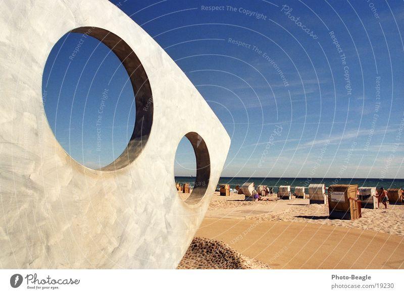 Augusthitze I See Meer Strand Strandkorb faulenzen Ferien & Urlaub & Reisen Sommer Physik Ostsee Kellenhusen Europa Wärme sea seaside ocean beach chair