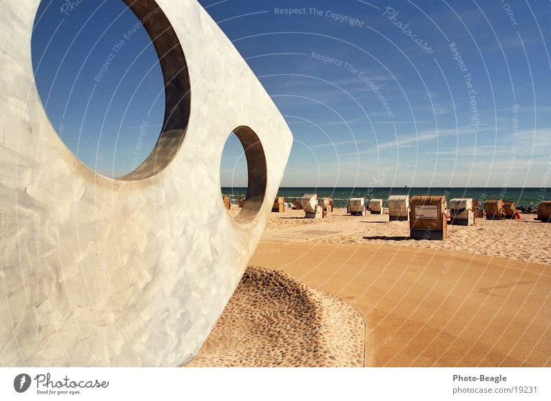 Augusthitze II See Meer Strand Strandkorb faulenzen Ferien & Urlaub & Reisen Sommer Physik Ostsee Kellenhusen Europa Wärme sea seaside ocean beach chair