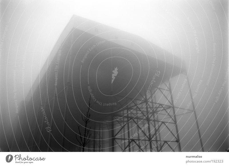 Architektonisches Grauen Skier Skihalle Sportstätten Technik & Technologie Kühlhaus Kälteanlage Kunst Umwelt Herbst Klima Wetter Nebel Industrieanlage Halle