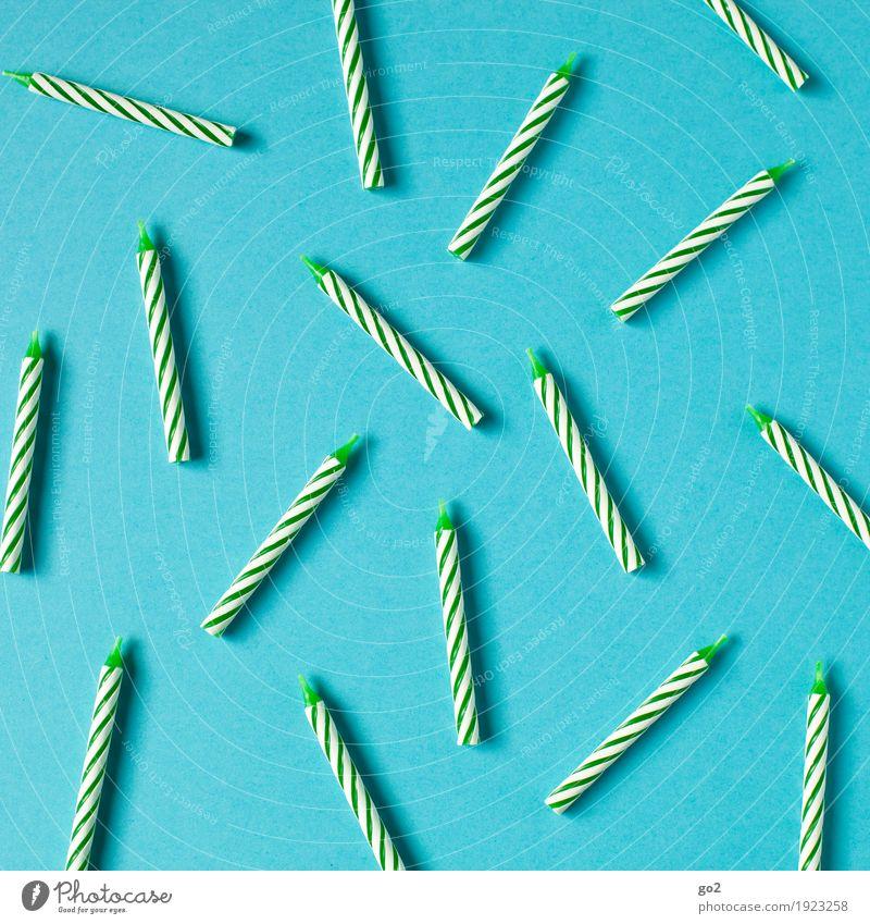 Geburtstagskerzen Party Feste & Feiern Dekoration & Verzierung Kerze ästhetisch Fröhlichkeit blau grün Freude Lebensfreude Vorfreude Kreativität