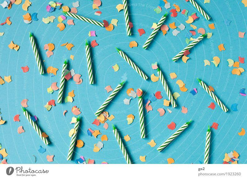Geburtstagsfeier Entertainment Party Veranstaltung Feste & Feiern Dekoration & Verzierung Kerze Konfetti Fröhlichkeit blau mehrfarbig Freude Glück Lebensfreude
