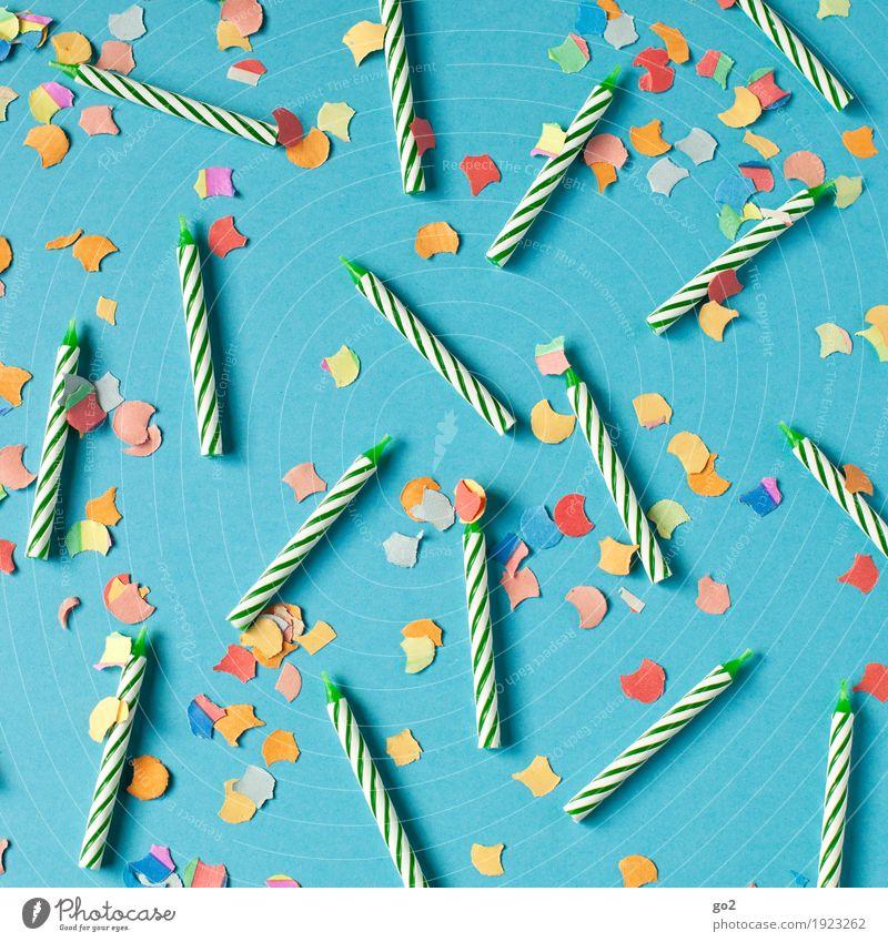 Konfettikerzen blau Freude Feste & Feiern Party Freizeit & Hobby Dekoration & Verzierung ästhetisch Geburtstag Fröhlichkeit Lebensfreude Kerze Veranstaltung