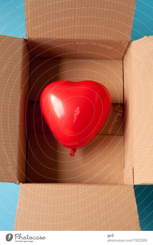 Herz Gesundheit Leben Feste & Feiern Valentinstag Muttertag Hochzeit Geburtstag Verpackung Kasten Luftballon Karton Zeichen positiv rot Gefühle Glück
