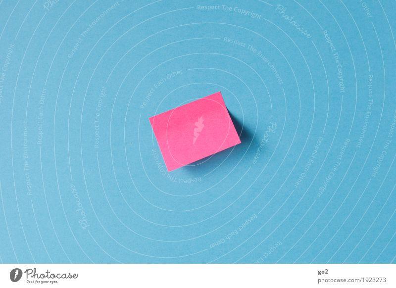 Notiz blau rosa Büro Kommunizieren Schilder & Markierungen ästhetisch Idee einfach Papier Information Kontakt Sitzung Dienstleistungsgewerbe Inspiration