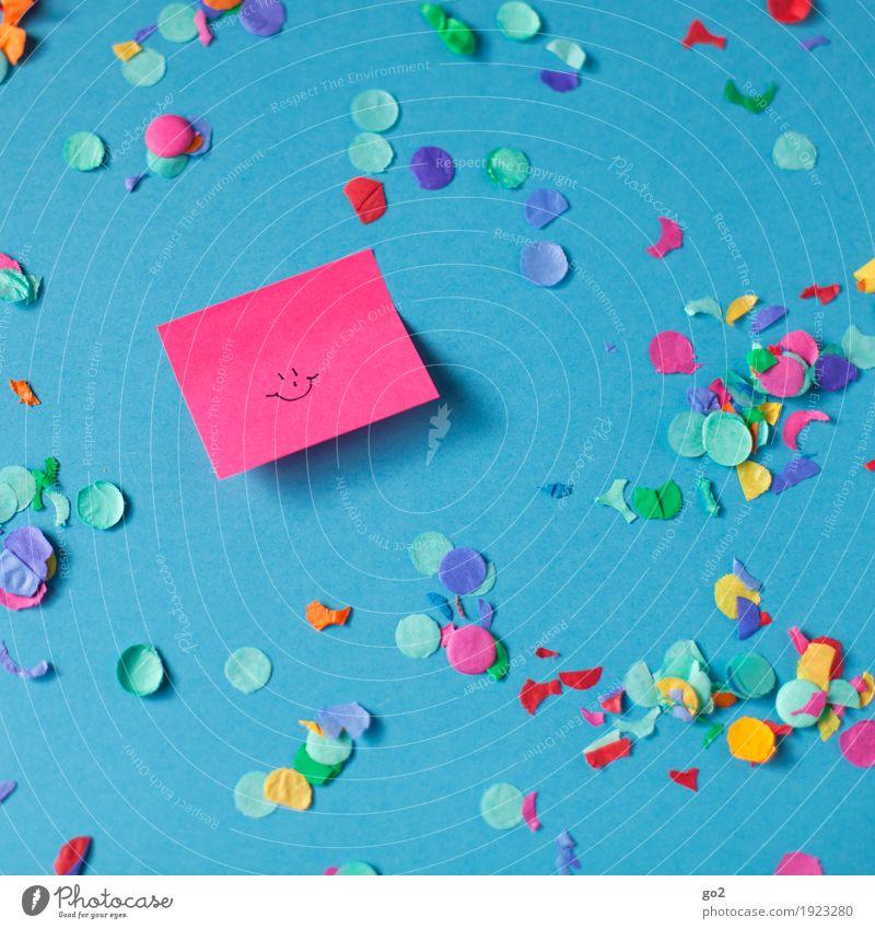 Happy Farbe Freude Gefühle lachen Glück Feste & Feiern Party Dekoration & Verzierung ästhetisch Kreativität Geburtstag Fröhlichkeit Lächeln Lebensfreude