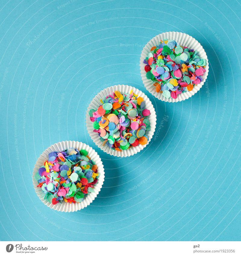 Wurfmaterial blau Farbe Freude Party Feste & Feiern Dekoration & Verzierung ästhetisch Kreativität Geburtstag Fröhlichkeit Idee Lebensfreude Veranstaltung