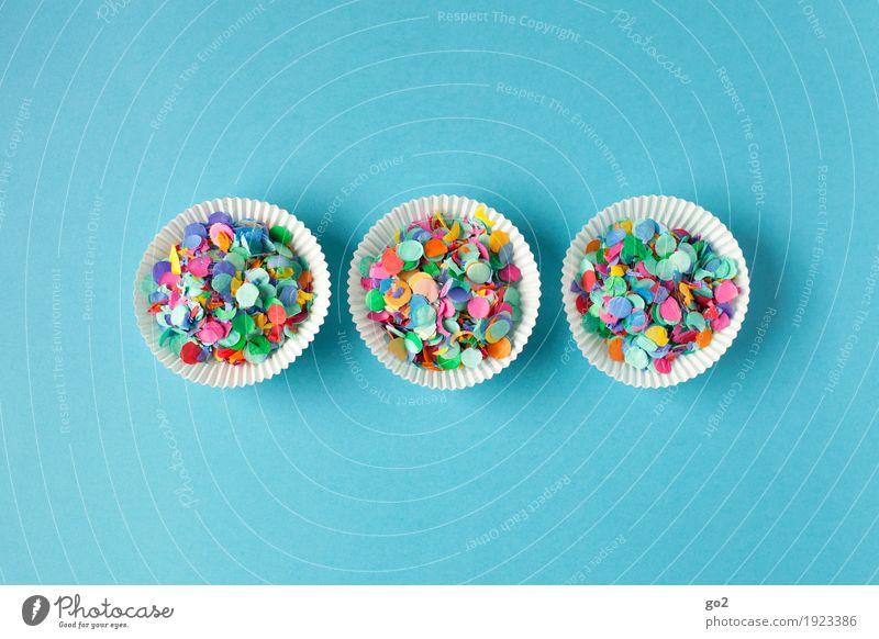 Konfetti-Muffins Ernährung Party Veranstaltung Feste & Feiern Essen Karneval Silvester u. Neujahr Jahrmarkt Geburtstag Dekoration & Verzierung ästhetisch