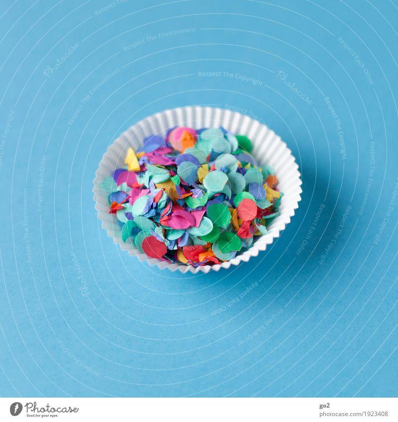 Konfettimuffin blau Freude außergewöhnlich Party Feste & Feiern Freizeit & Hobby Ernährung Dekoration & Verzierung ästhetisch Kreativität Geburtstag