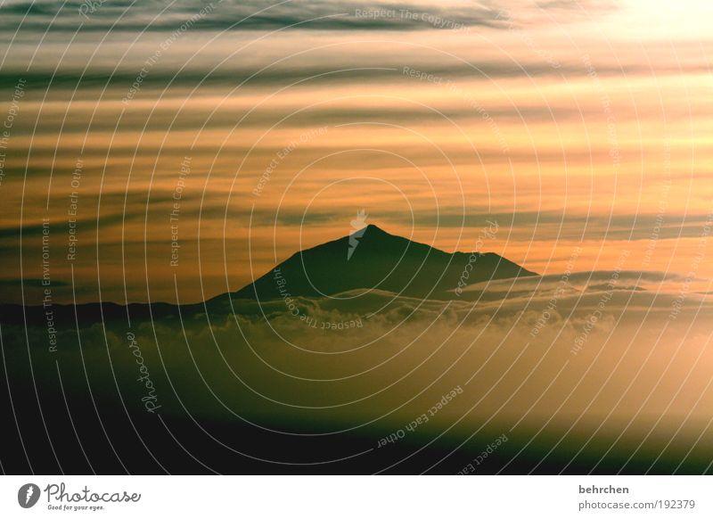 (männer)fantasie Himmel Natur schön Ferien & Urlaub & Reisen Wolken Ferne Freiheit Berge u. Gebirge Landschaft Zufriedenheit Kraft Ausflug Insel Hoffnung