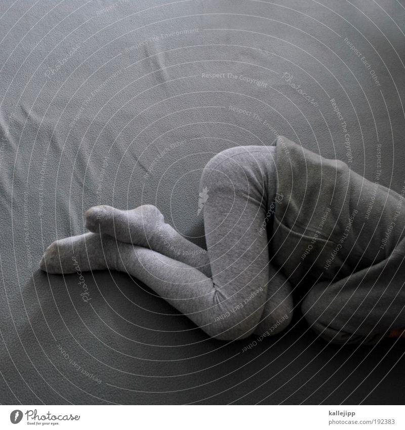 grauzone Mensch Kind Mädchen ruhig Erholung Junge träumen Fuß Beine Körper klein schlafen Gesäß Bett Schutz