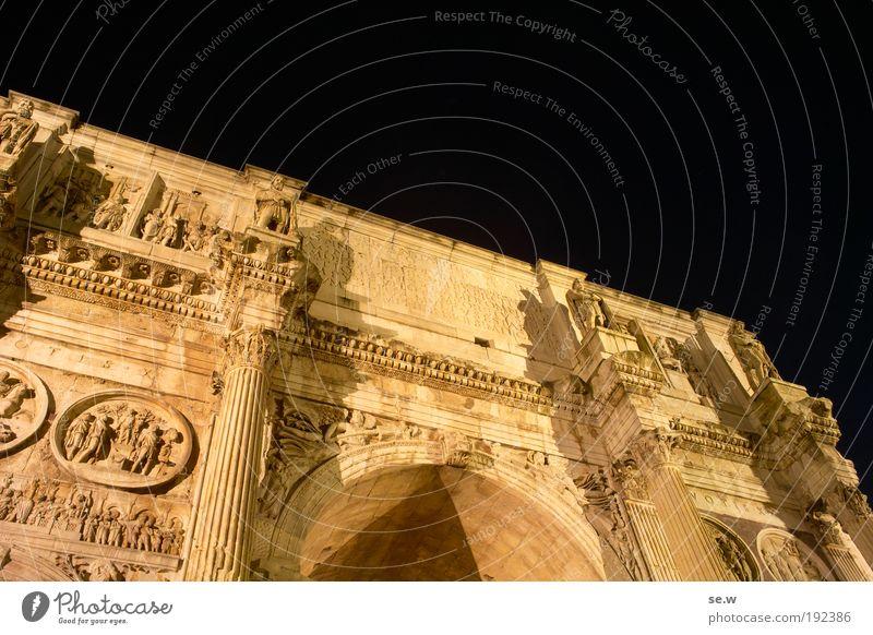 Arco di Costantino Hauptstadt Ruine Wahrzeichen Denkmal Konstantinbogen genießen zeichnen leuchten träumen alt ästhetisch Bekanntheit groß historisch gelb