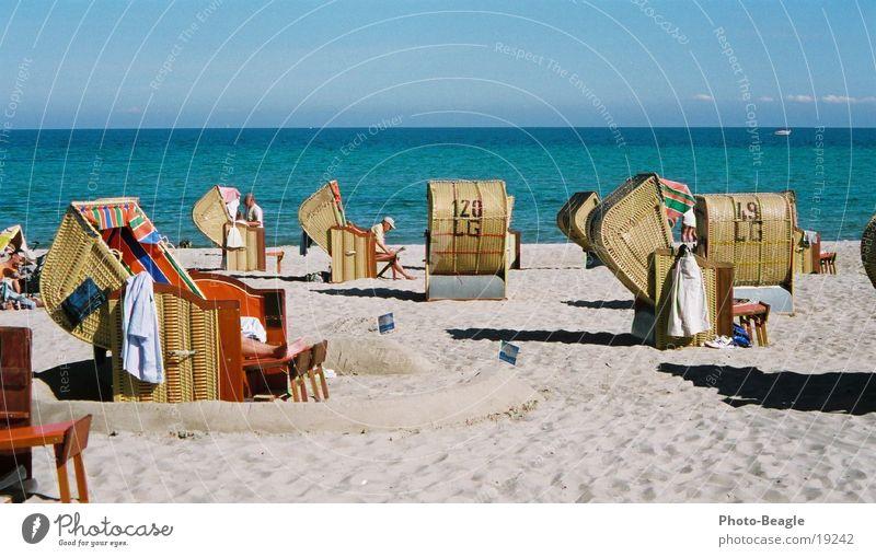 Saisoneröffnung :-) II See Meer Strand Strandkorb faulenzen Ferien & Urlaub & Reisen Sommer Ostsee Kellenhusen Europa sea seaside ocean wave waves Lachmöwe