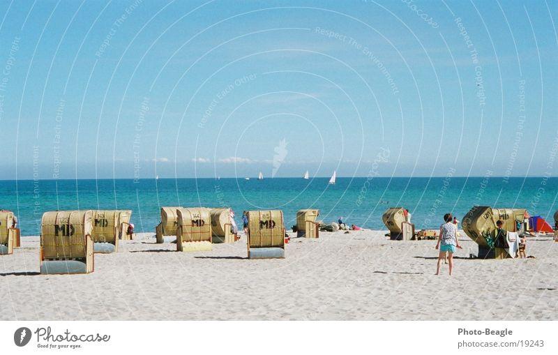 Saisoneröffnung :-) I See Meer Strand Strandkorb faulenzen Ferien & Urlaub & Reisen Sommer Ostsee Kellenhusen Europa sea seaside ocean wave waves Lachmöwe