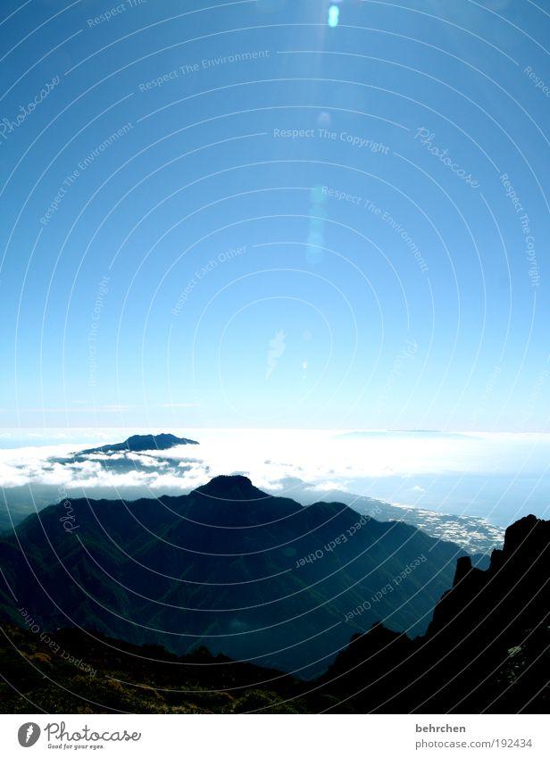 schöne aussichten... Ferien & Urlaub & Reisen Ausflug Ferne Freiheit Natur Landschaft Himmel Wolken Klimawandel Schönes Wetter Berge u. Gebirge Insel