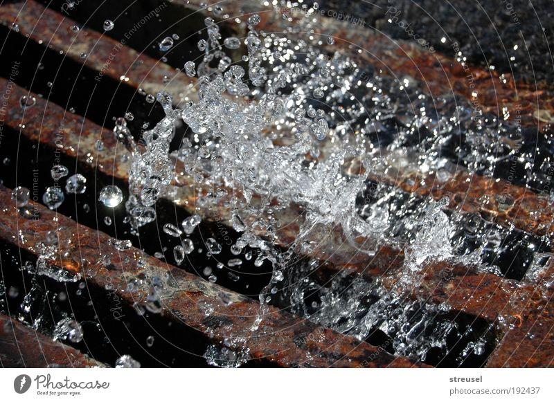 kaltes klares Wasser Natur Umwelt Leben Bewegung Regen braun Wetter nass frisch Wassertropfen Urelemente Vergänglichkeit Sauberkeit Unwetter