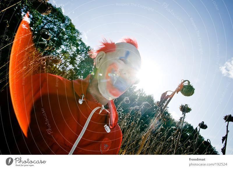 pennywise Natur sprechen Angst lustig maskulin verrückt bedrohlich geheimnisvoll gruselig trashig Blume skurril Sonnenblume bizarr Surrealismus anonym