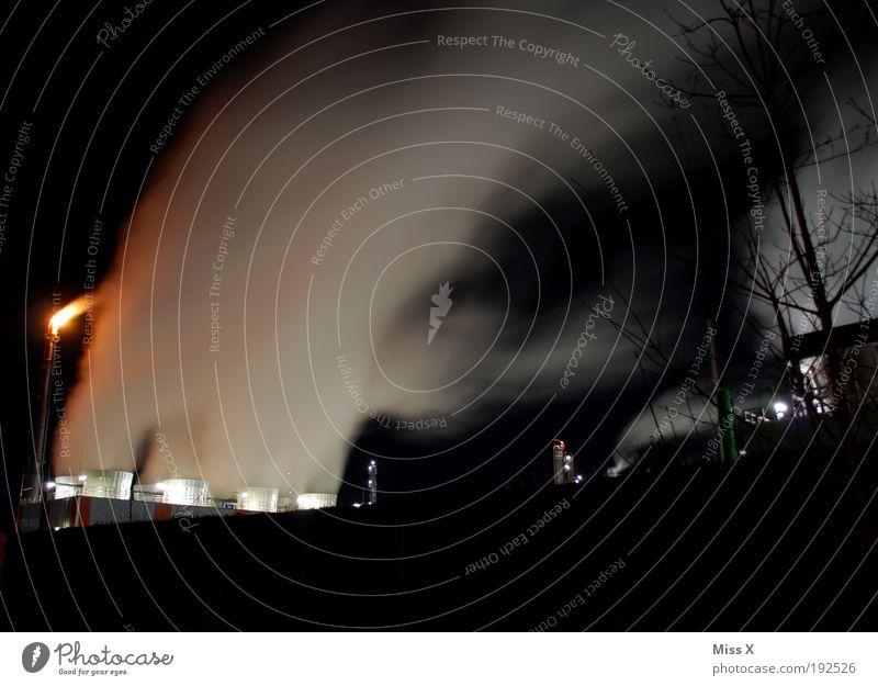 Dampf dunkel groß Energie Industrie Energiewirtschaft gefährlich Zukunft Technik & Technologie Fabrik bedrohlich außergewöhnlich Rauch Bauwerk Schornstein
