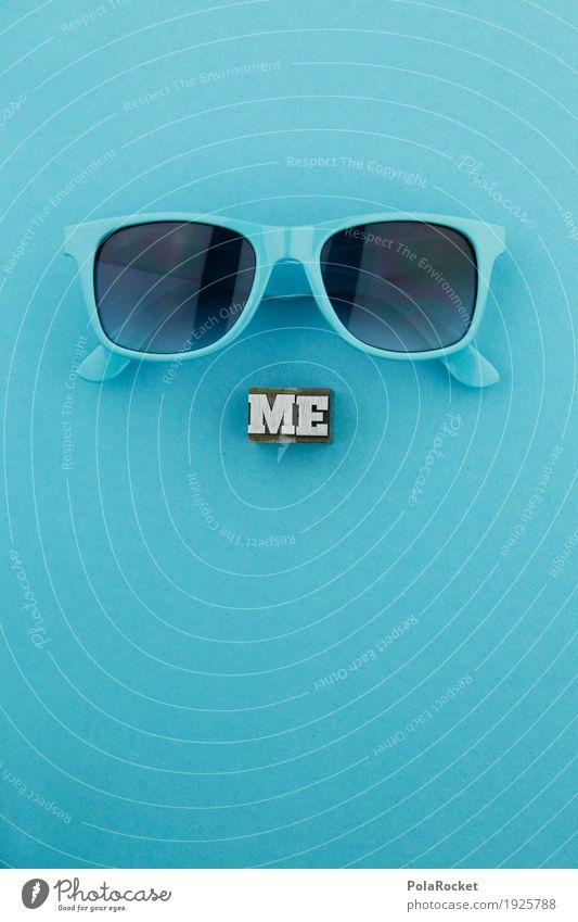 #AS# ME goes COOL Kunst Kunstwerk ästhetisch Coolness blau Sonnenbrille Durchblick Blick Mode Stil knallig Kreativität blaustich Farbfoto mehrfarbig