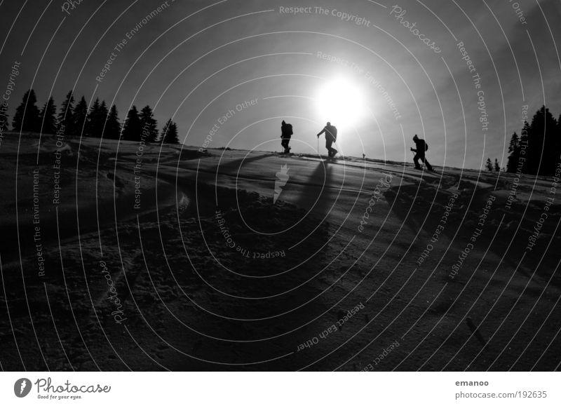 powderguide Mensch Freude Winter Berge u. Gebirge Schnee Sport Lifestyle gehen Freundschaft Freizeit & Hobby wandern laufen Klima Abenteuer Gipfel Alpen