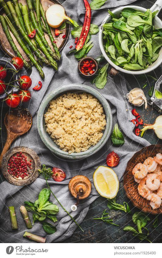 gesundes kochen mit spargel und quinoa samen ein lizenzfreies stock foto von photocase. Black Bedroom Furniture Sets. Home Design Ideas