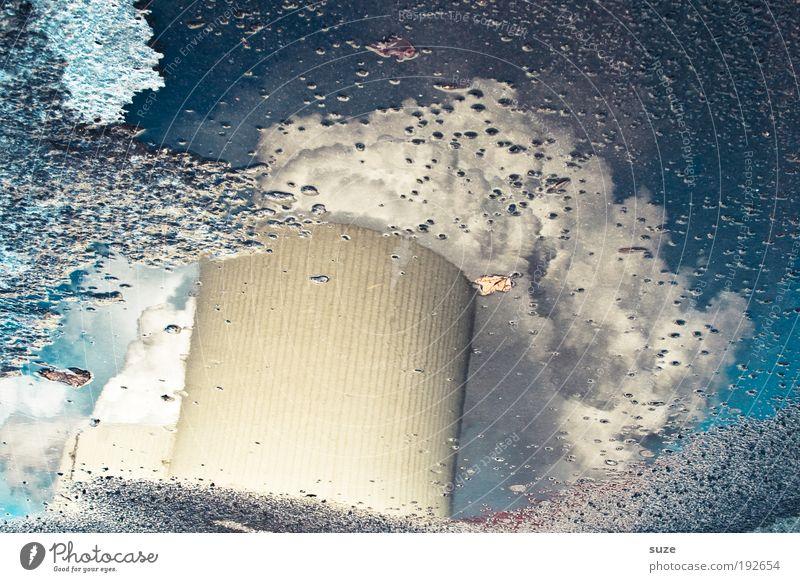 Wasserdampf Himmel Arbeit & Erwerbstätigkeit grau Luft dreckig Design Umwelt Industrie gefährlich Industriefotografie Rauch Abgas Erdöl Schornstein Pfütze