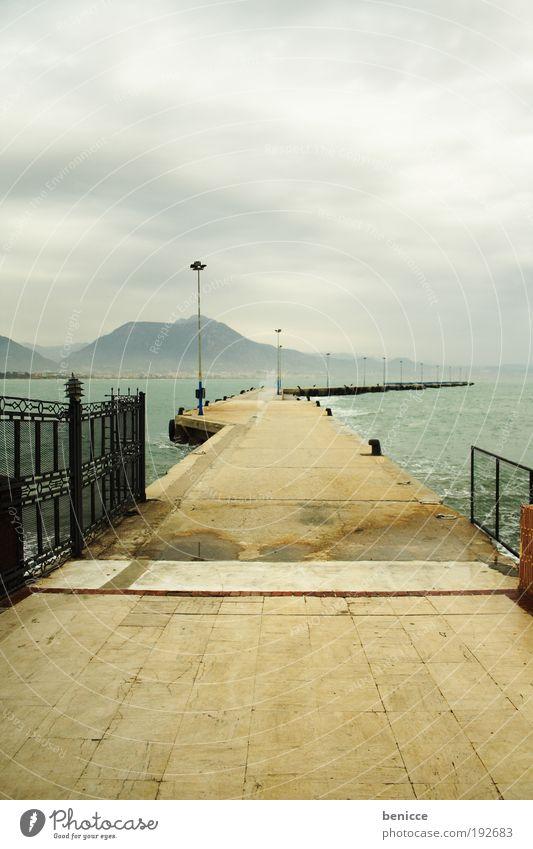 Steg Natur Wasser Meer Wolken Einsamkeit Wege & Pfade Hafen Laterne Steg Anlegestelle Konstruktion Türkei Alanya