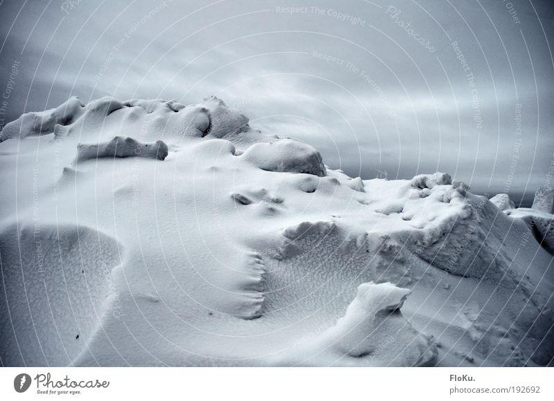 Kein grün in Sicht weiß Wolken Winter kalt Schnee Landschaft Umwelt grau Eis Klima Frost Urelemente Gletscher schlechtes Wetter Frustration