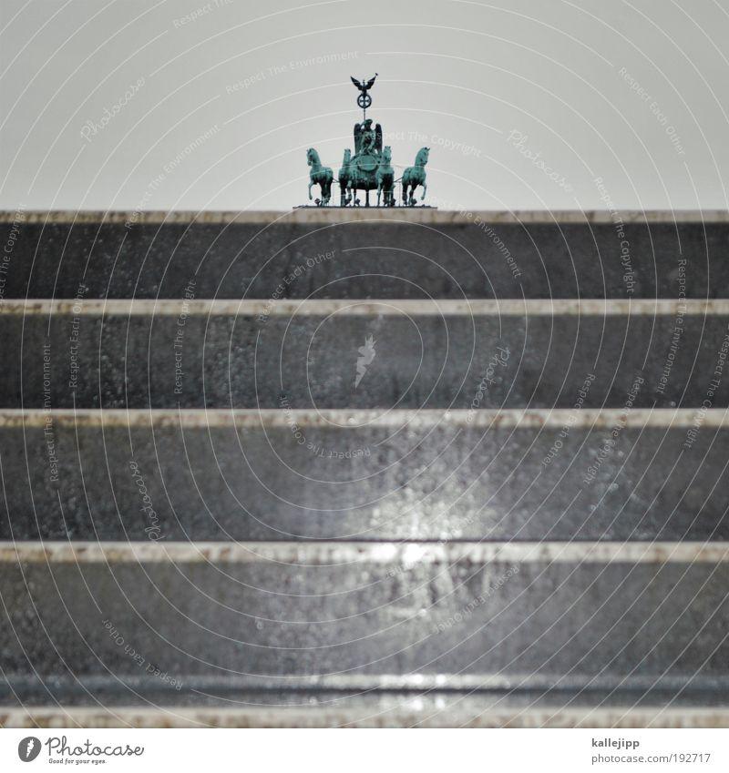 4 ps Kunst Kunstwerk Skulptur Sehenswürdigkeit Wahrzeichen Denkmal Pferdekutsche Tier Macht Zukunft Brandenburger Tor Sieg Kreuz Antike Berlin Deutschland