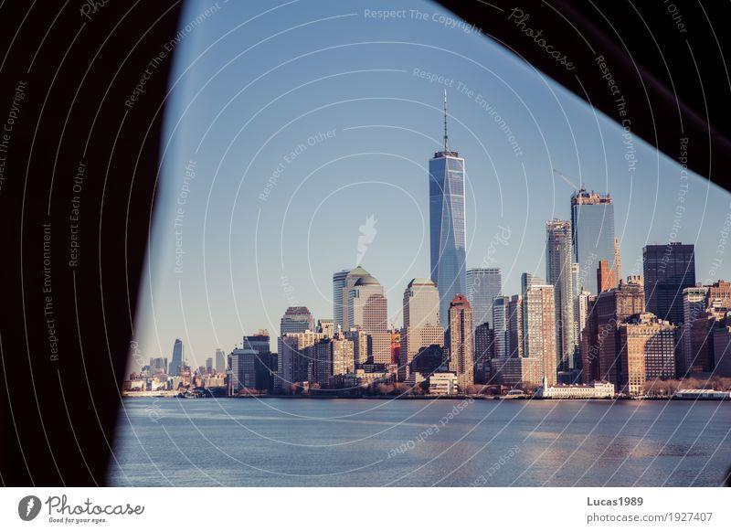New York City - Manhattan Ferien & Urlaub & Reisen Stadt Haus Ferne Architektur Gebäude Tourismus Ausflug USA hoch Abenteuer Sehenswürdigkeit Skyline