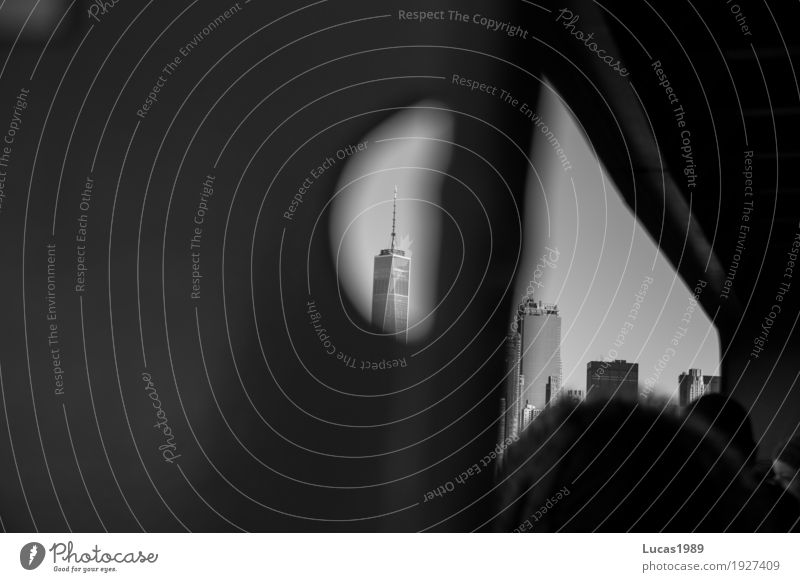 New York City - World Trade Center Ferien & Urlaub & Reisen Tourismus Ausflug Sightseeing Städtereise Manhattan Stars and Stripes Stadt Hauptstadt Haus Hochhaus