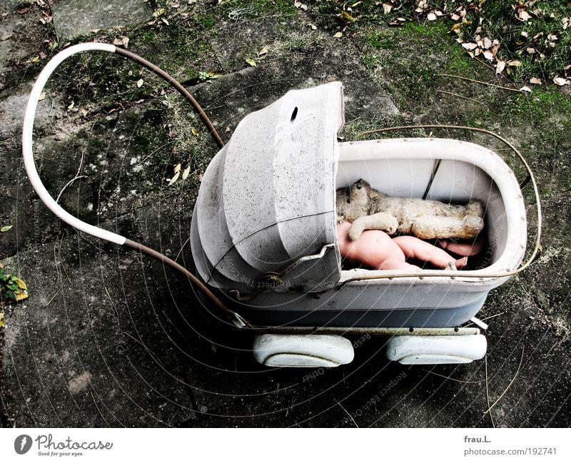 Ausflug alt Leben Spielen dreckig Trauer kaputt Vergänglichkeit Spielzeug Gewalt Kindheit Verfall Vergangenheit Puppe Trennung Kindererziehung Teddybär