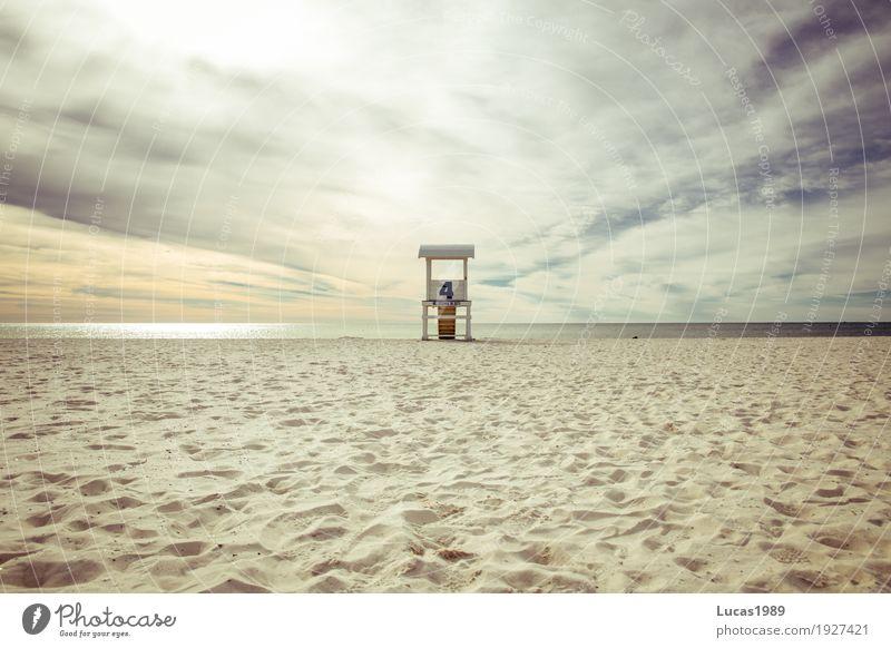 Strand Nr. 4 Ferien & Urlaub & Reisen Tourismus Ferne Freiheit Kreuzfahrt Sommer Sommerurlaub Sonne Meer Wellen Sand Wolken Sonnenlicht Küste Pensacola USA