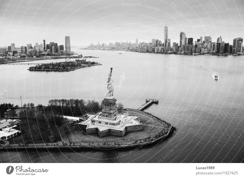 #600 Freiheitsstatue Ferien & Urlaub & Reisen Stadt Architektur Gebäude außergewöhnlich Tourismus USA Abenteuer Bauwerk Sehenswürdigkeit Skyline Wahrzeichen