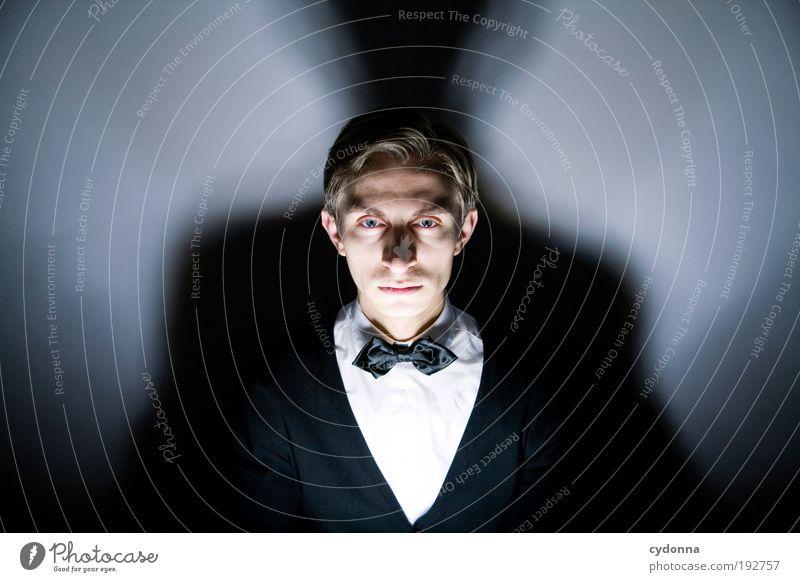 Illusionist Lifestyle Reichtum elegant Stil Design Poker Glücksspiel Nachtleben Feste & Feiern Mensch Mann Erwachsene Kopf Gesicht einzigartig Idee