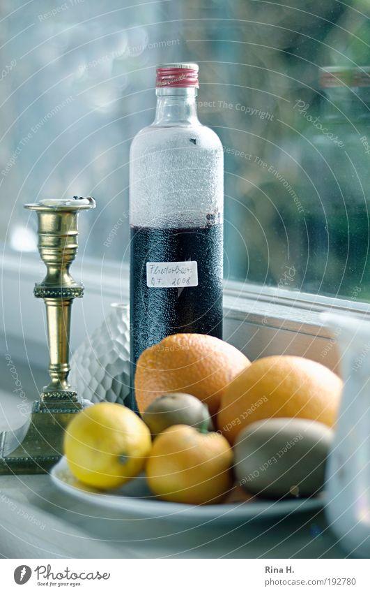 Fliederbeersaft gelb Glück Gesundheit Kraft Frucht Orange natürlich glänzend Lebensmittel authentisch Küche trinken rein lecker Stillleben Bioprodukte