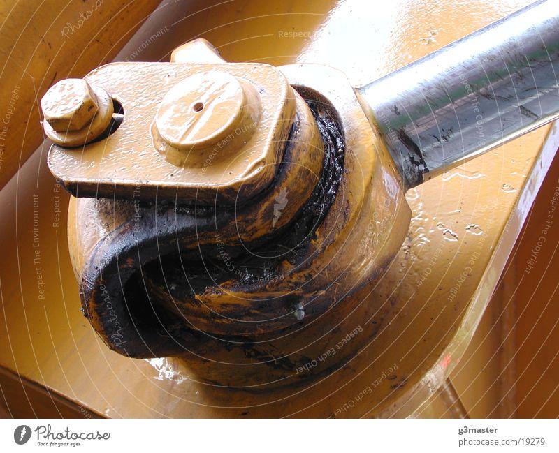 Rod Bagger gelb Schmierstoff Industrie hydraulisch Zylinder