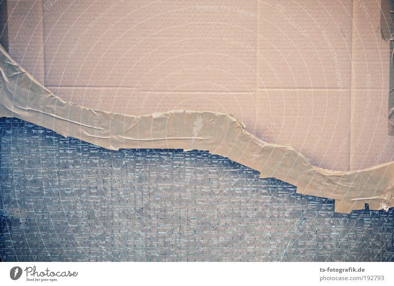 Dow Jones blau Fenster Berge u. Gebirge braun Angst Tür kaputt bedrohlich Zeichen Reichtum Sicherheit silber Wirtschaft Karton Aktien Papier