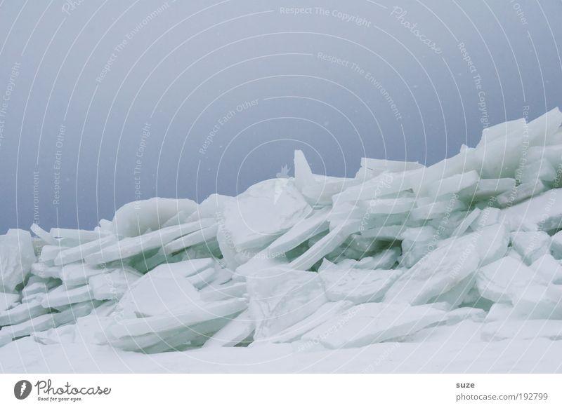 Eisberg Himmel Natur blau weiß Einsamkeit Winter Landschaft Umwelt kalt Schnee Küste Horizont Eis außergewöhnlich Klima Urelemente