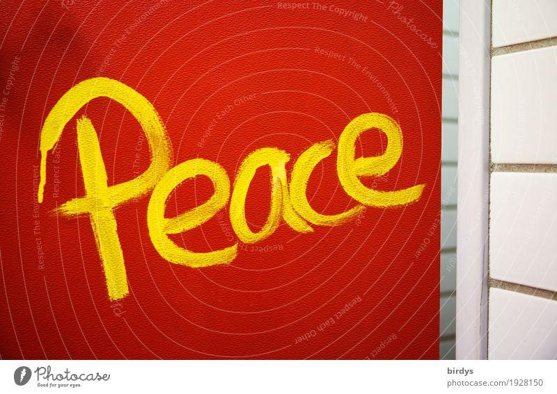 Hunger nach ... rot gelb Graffiti Glück Freiheit Schriftzeichen Tür Kommunizieren authentisch Erfolg einfach Macht Hoffnung Sicherheit Ziel Frieden