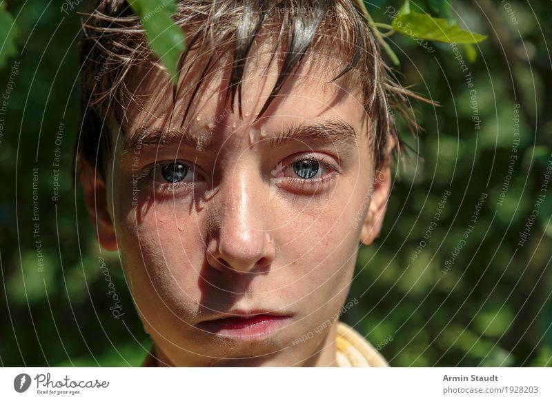 Porträt Mensch Natur Ferien & Urlaub & Reisen Jugendliche Sommer schön Wasser Erholung Freude Gesicht Auge Leben Lifestyle Stil Kopf Schwimmen & Baden