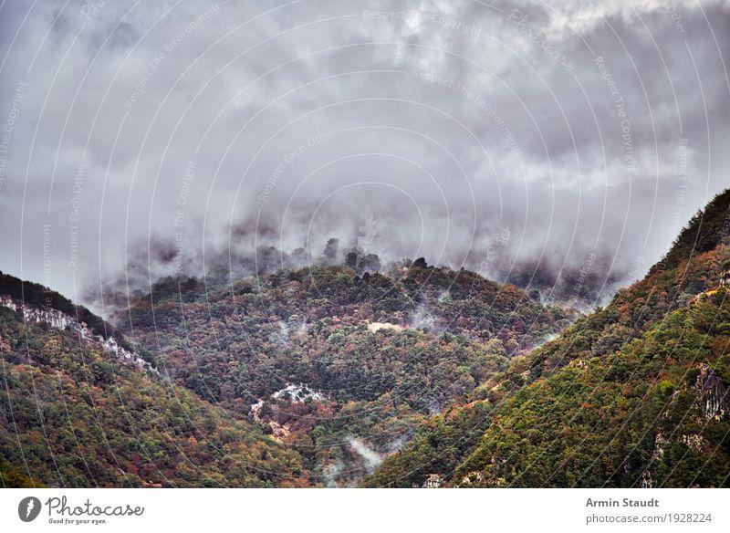 Toskana Himmel Natur Ferien & Urlaub & Reisen Sommer Landschaft Ferne Berge u. Gebirge Umwelt Herbst Freiheit Stimmung Regen Wetter Nebel Luft Erde