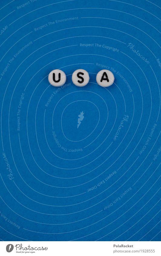 #AS# U S und A blau Kunst ästhetisch USA Buchstaben Amerika Stars and Stripes Wahlen Wahlkampf US-Armee Trump Tower