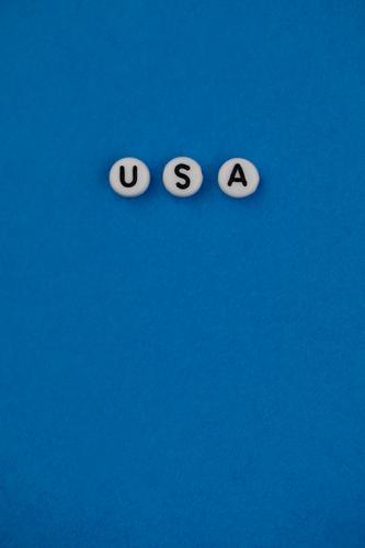 #AS# U S und A Kunst ästhetisch USA Stars and Stripes US-Armee Amerika blau Wahlen Wahlkampf Buchstaben Trump Tower Farbfoto mehrfarbig Innenaufnahme