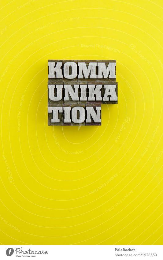 #AS# KOMMUNIKATION Kunst ästhetisch Design Telekommunikation sprechen Kommunizieren Kommunikationsmittel gelb Kreativität Wort Sprache Deutsch mündlich
